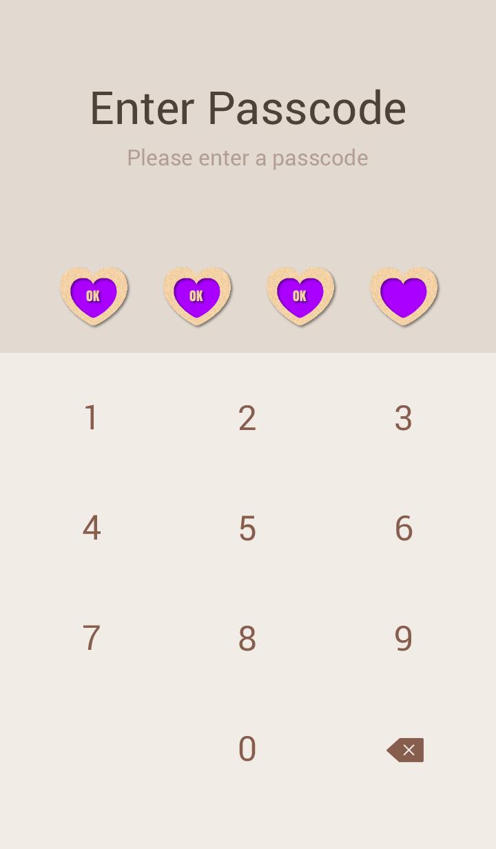 Craft Simple Design Heart Purple ver.
