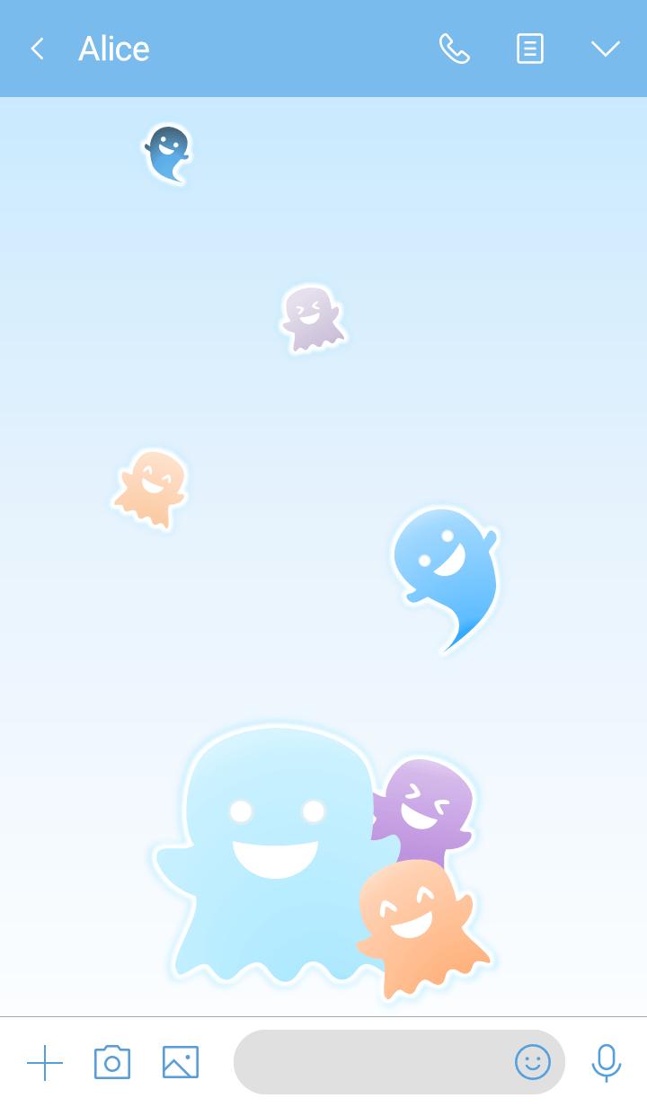 Little Ghosts! (Blue Ver.5)