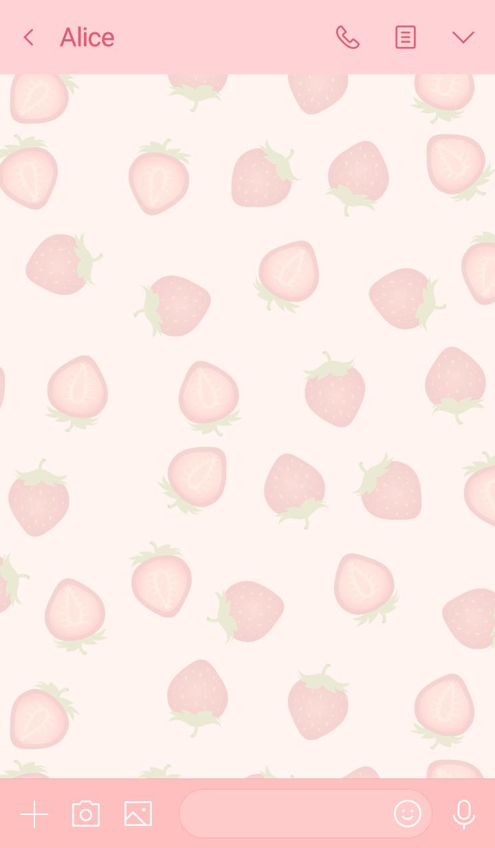 かわいいイチゴがいっぱい