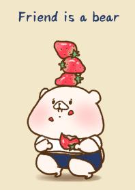 Friend is a bear(strawberry)