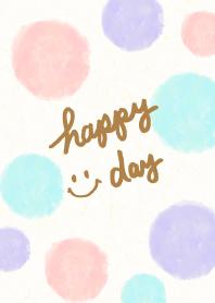 Adult watercolor Polka dot4 - smile10-