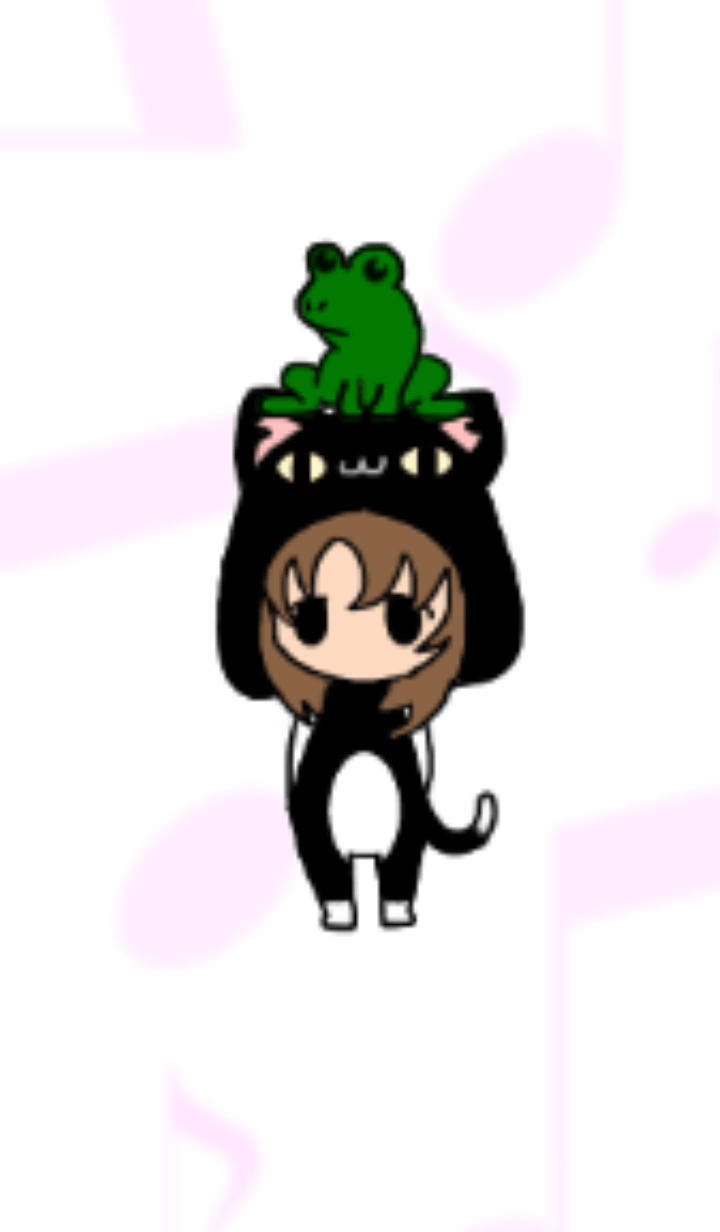 Frog and me Black cat Ver.