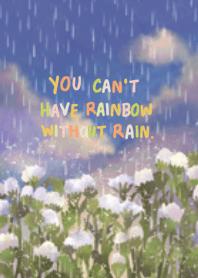 daisy on rainy day