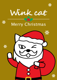 Wink-cat Golden Christmas