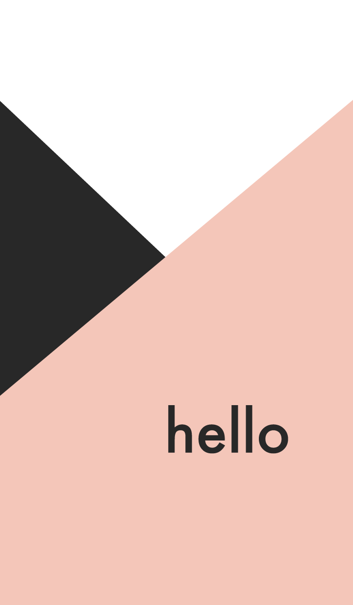hello - rose pink & black -