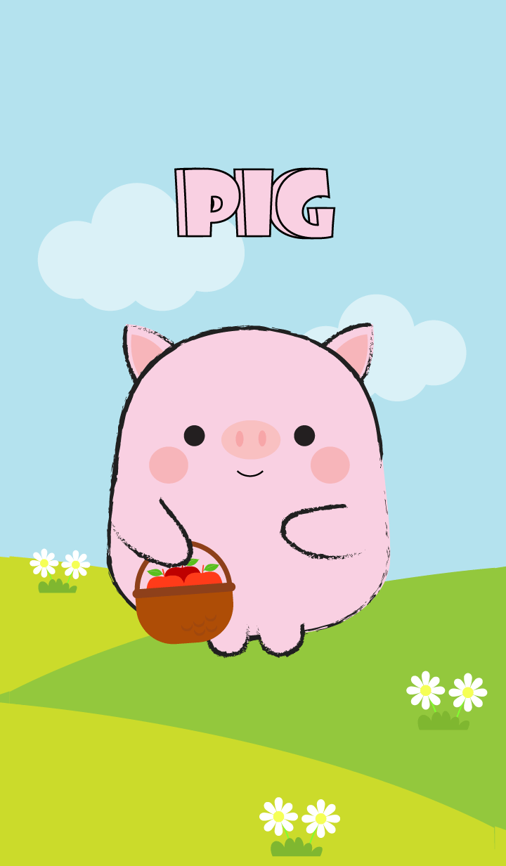 Pretty Fat Cute Pig Theme