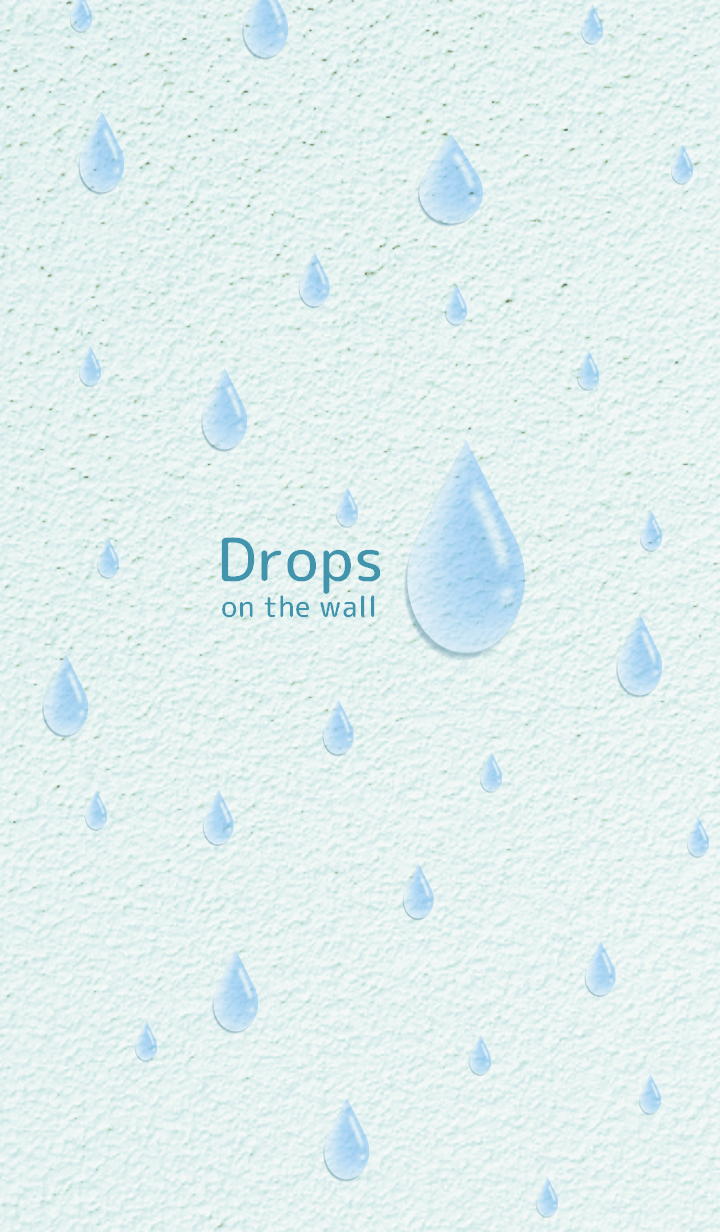 Drops on the wall