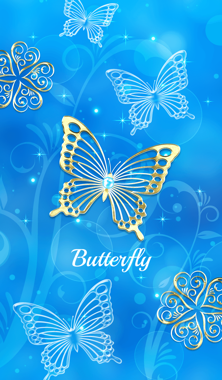 Fortune rise !? Blue Light Butterfly!.