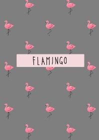 Flamingo pink and gray