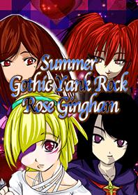 Summer Gothic Yank Rock Rose Gingham