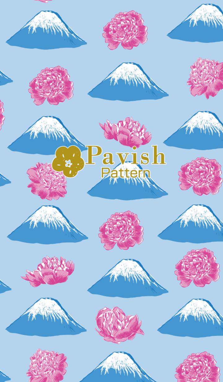 Fuji&Peony-Pavish Pattern-