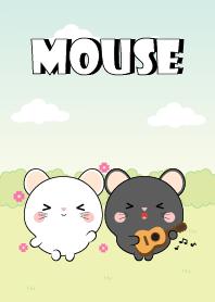 Mini Lovely Black Mouse & White Mouse