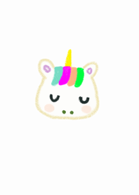 simple unicorn x (white)