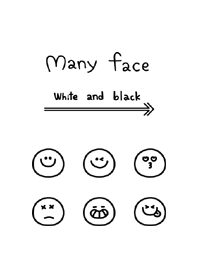 Many face White and black