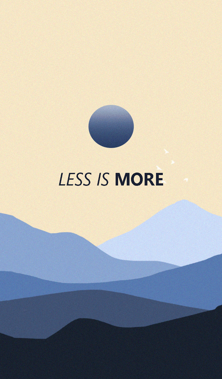 Less is more - #32 Nature