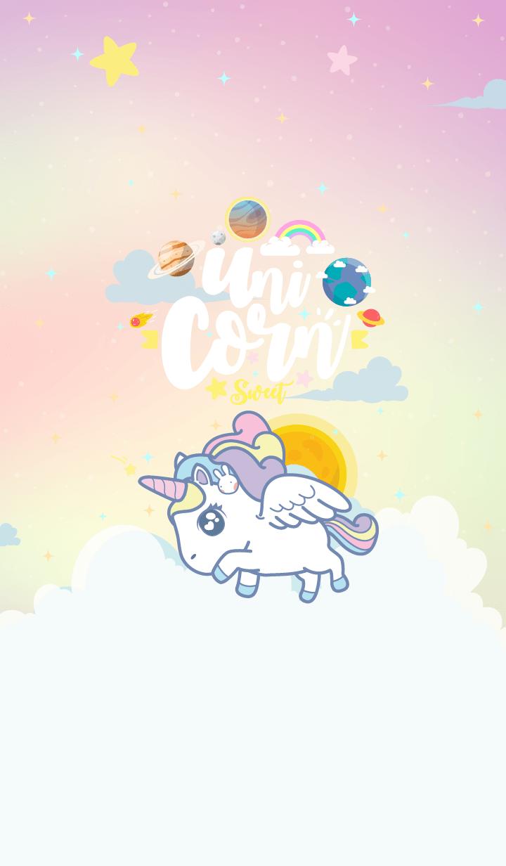 Unicorn Sweet Galaxy Hologram