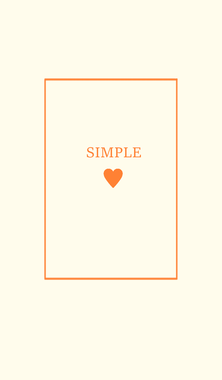 SIMPLE HEART =orange2=