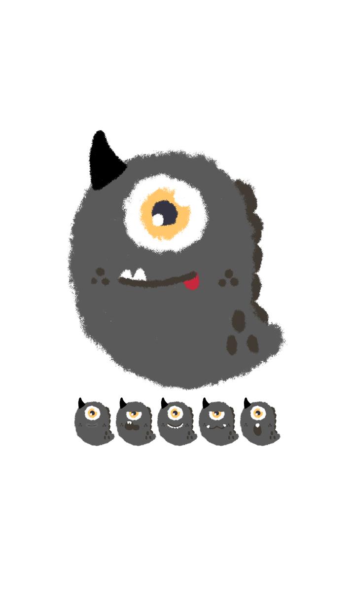 Kawaii black monster