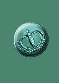 Golden luck coin blue green