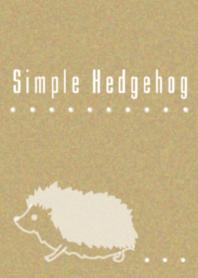 簡單的刺猬牛皮紙