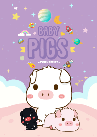 Baby Pig Galaxy Purple
