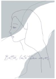 -art girl- dusty blue