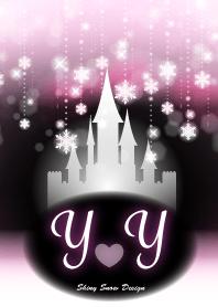 Y&Y-Initial-Snow Castle-Baby pink