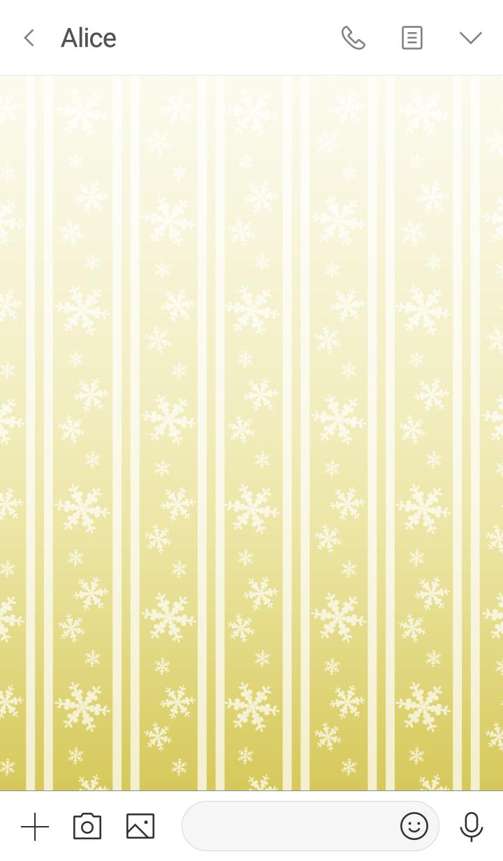 Double stripe -Gold & White snow-