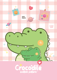 Crocodile Scottish Pattern Pink