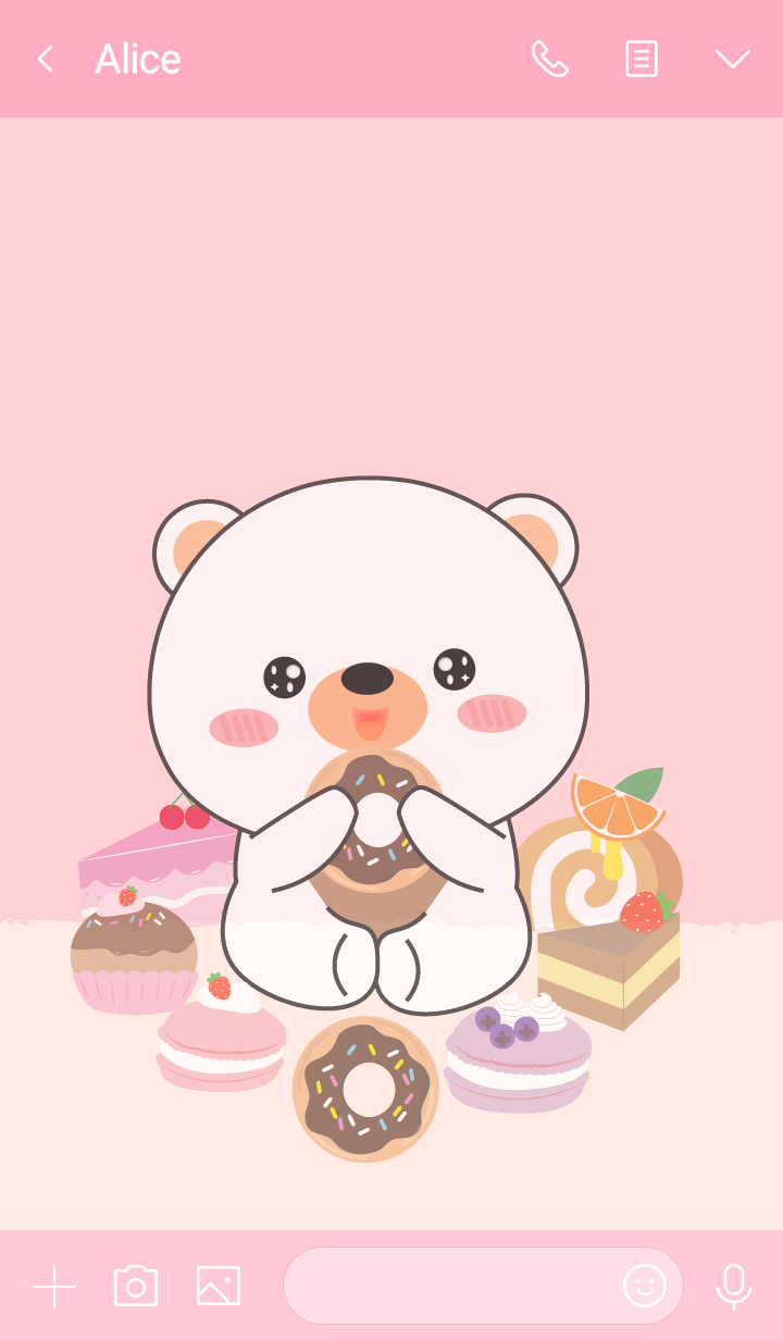 Sweet White Bear Theme