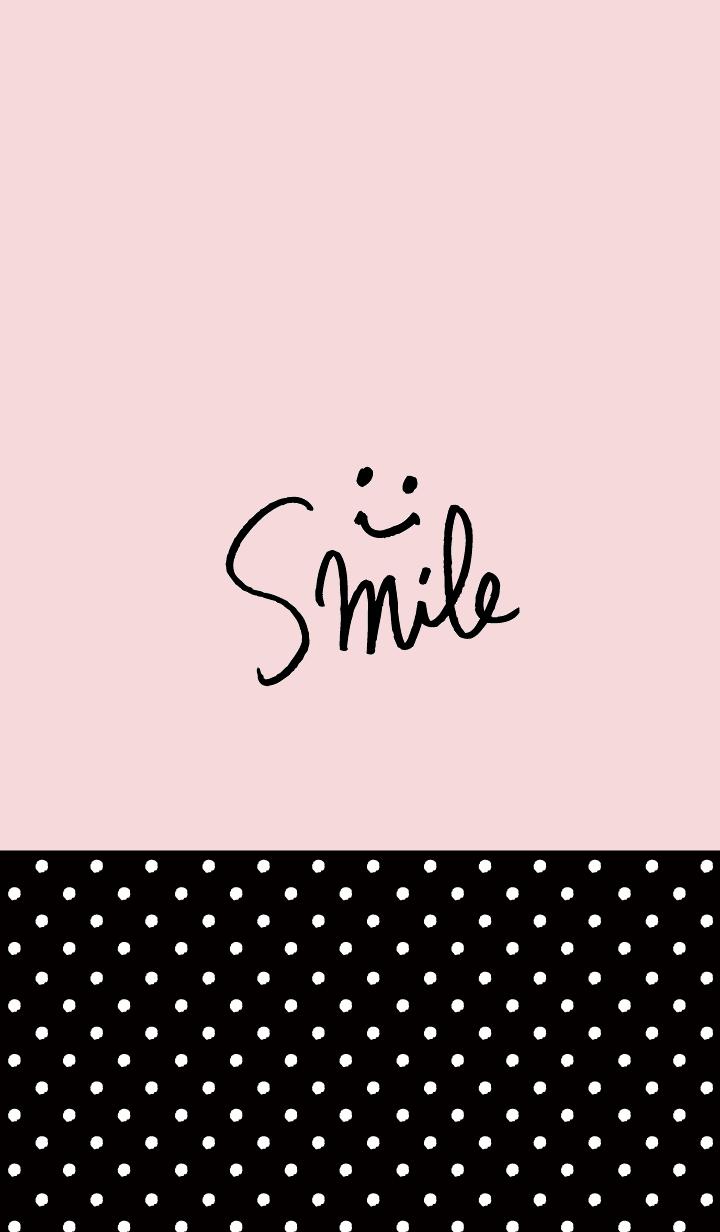 Pink black polka-dotted smile16