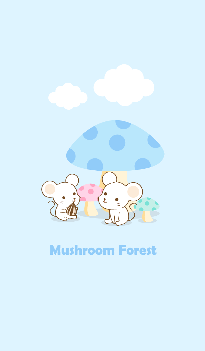 mushroom forest white mouse
