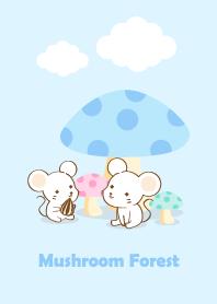 蘑菇森林小白鼠