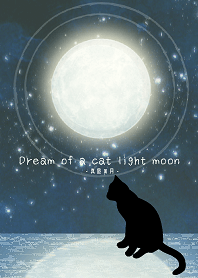 Dream of a cat light moon-midnight moon-