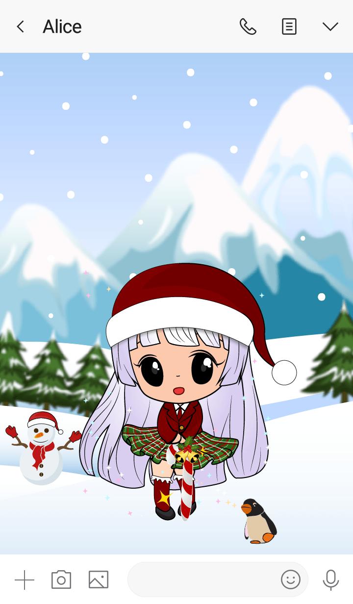 Aubree snowy girl