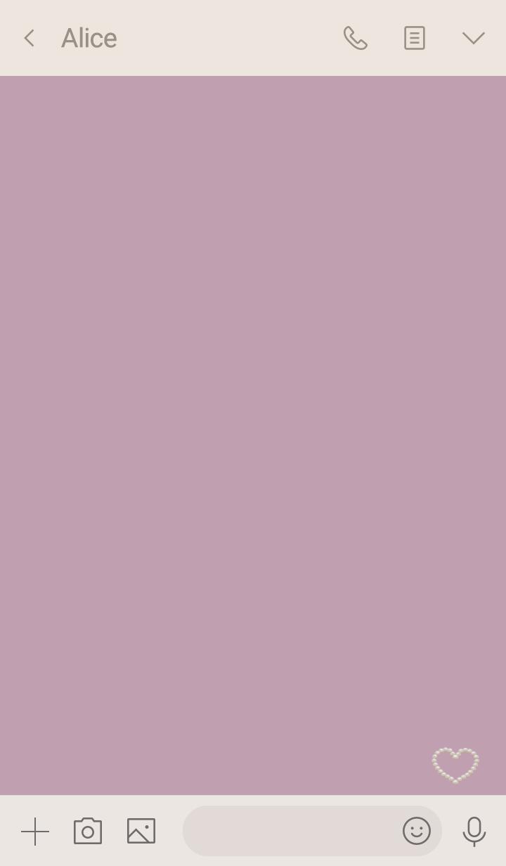 Dusty pink&Pearl heart