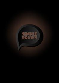 Brown Button In Black