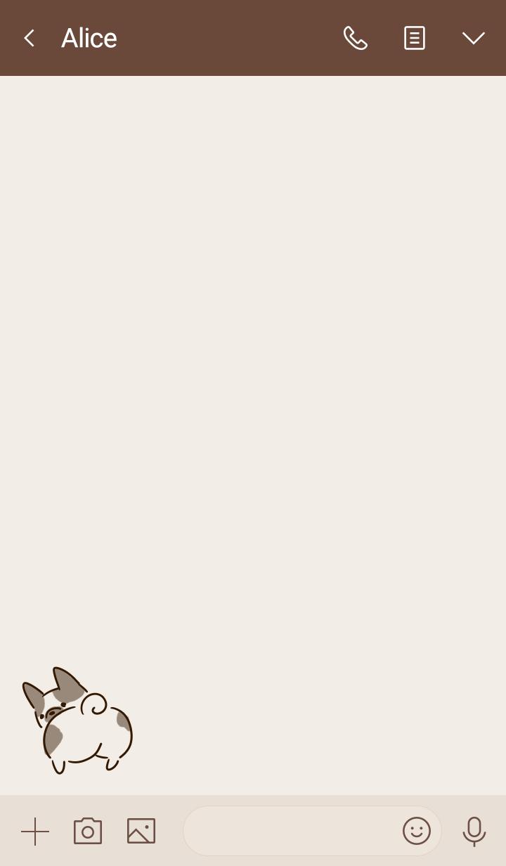 Simple french bulldog beige.