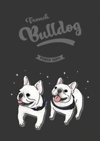 French Bulldog white - black
