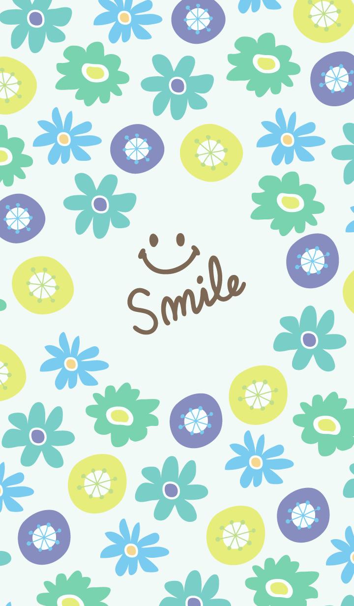 North European floral blue - smile7-