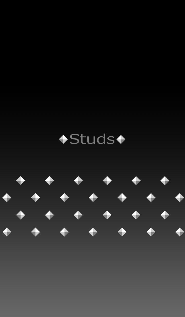 Pyramid studs -Silver-
