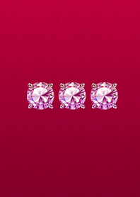 Three Lucky Red Amethyst