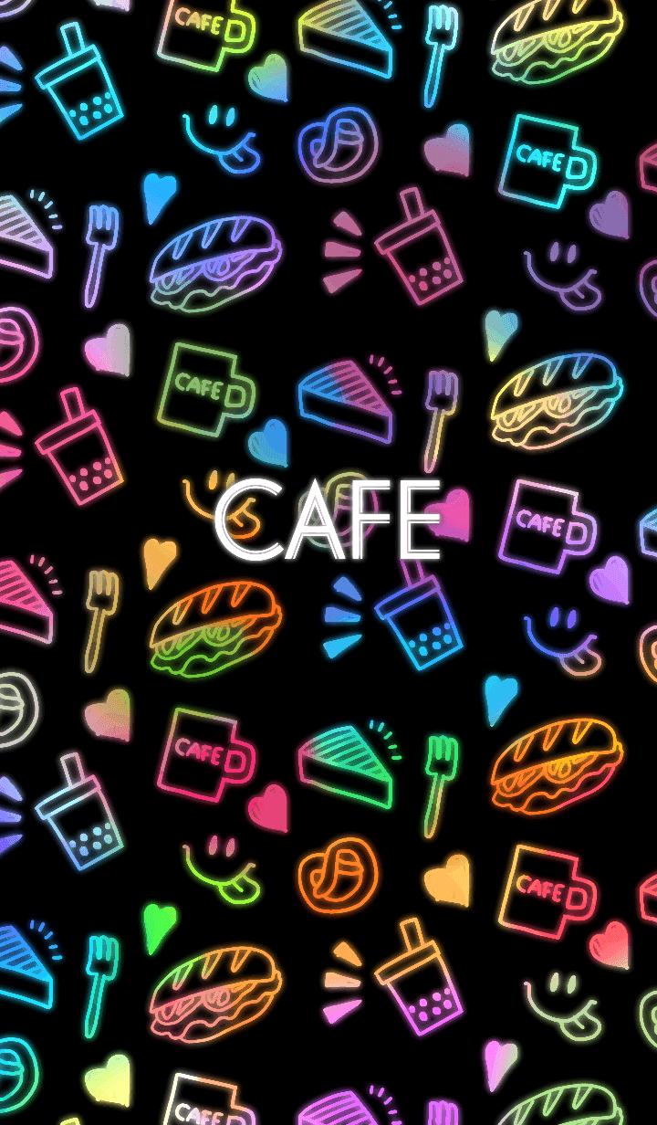 Neon pop cafe