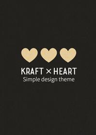 Adult pretty Kraft paper. -Heart Black-