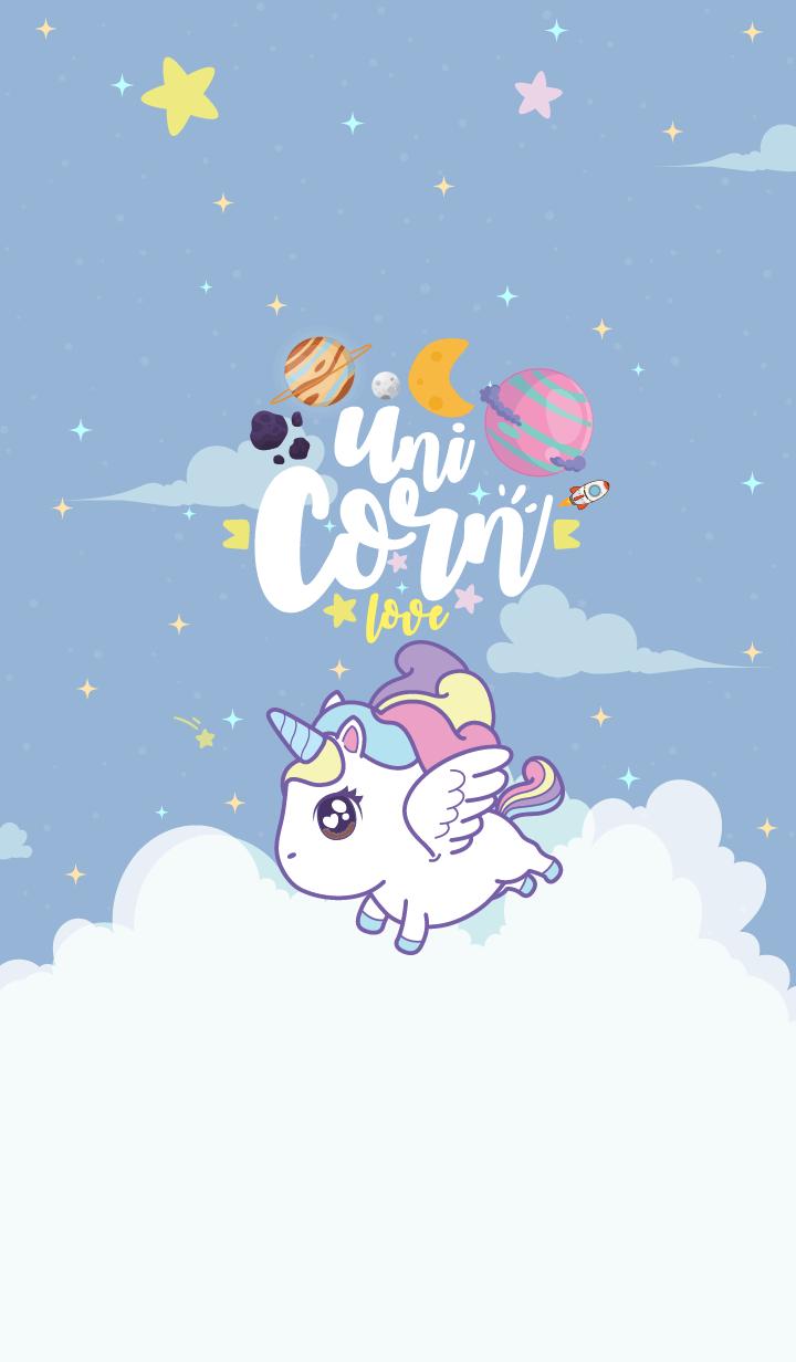 Unicorn Love Galaxy Blue