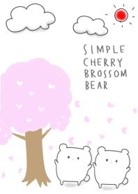 simple Cherry blossom bear