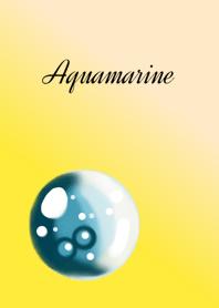 March birthstone.Aquamarine&Crystal.y