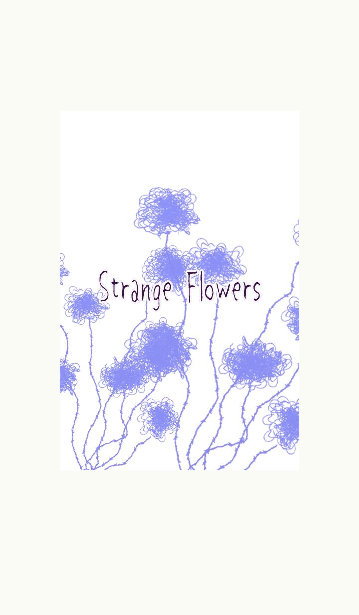 Strange blue flowers