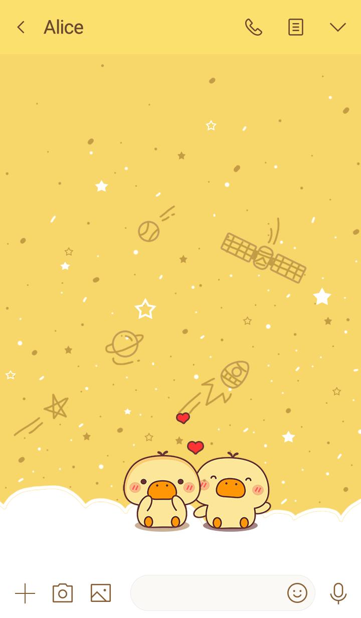 Hiru duck galaxy yellow