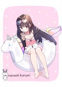kurumi-chan. Unicorn swim ring